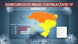 Site do IBGE mostra o número de médicos, enfermeiros, leitos e respiradores em cada estado