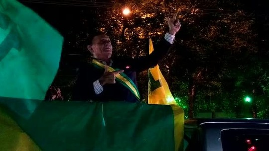Eleitores comemoram vitória de Bolsonaro na capital do Acre