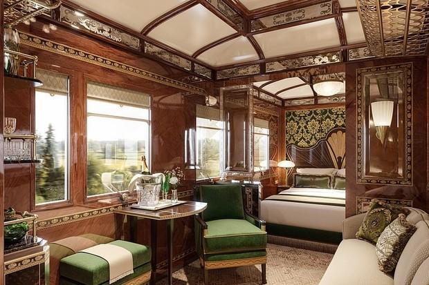 Veja os luxos das novas suítes do trem expresso entre Veneza e Londres (Foto: Divulgação)