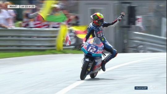 Marco Bezzecchi vence o GP da Áustria de Moto3