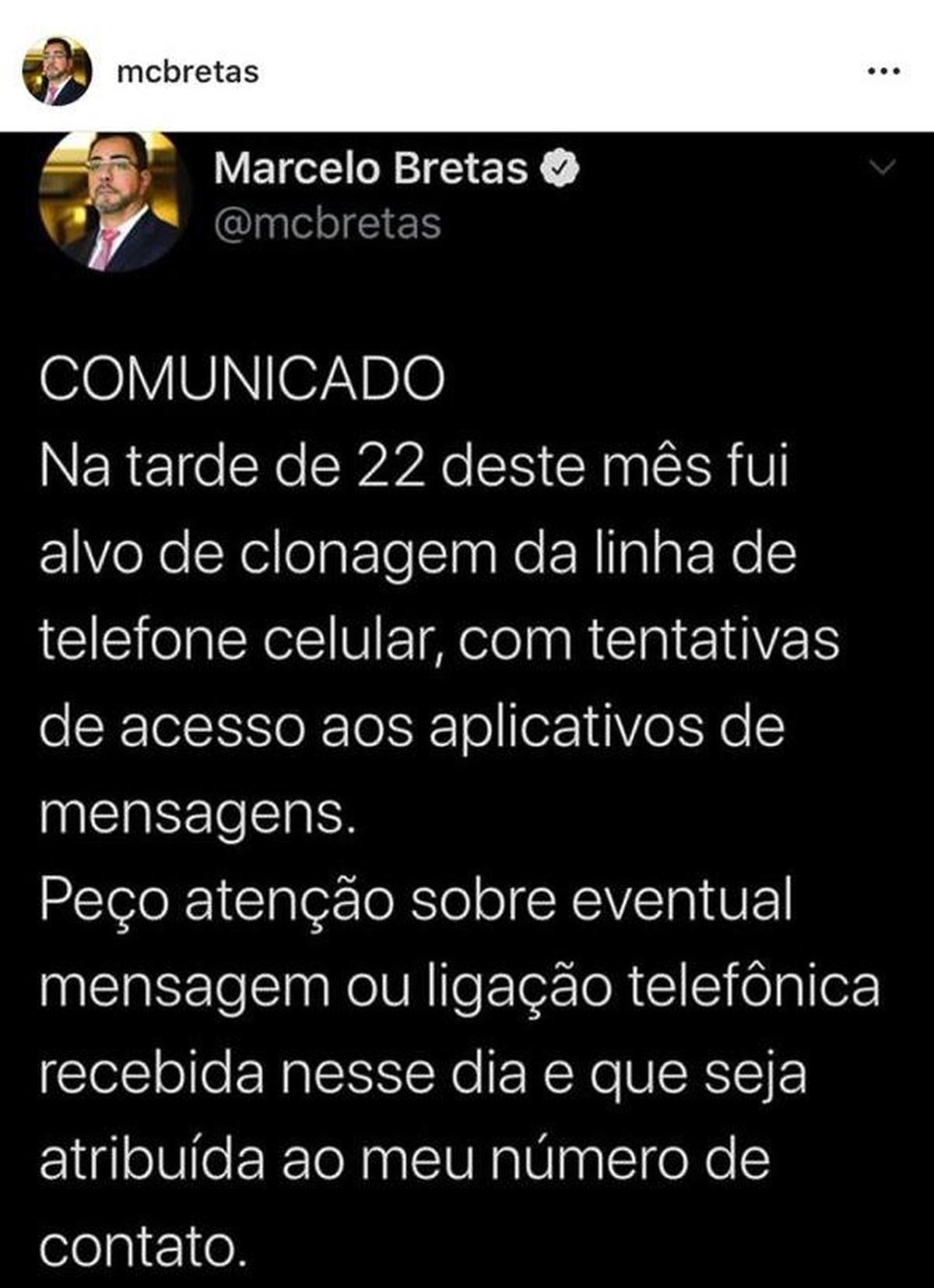 Juiz Marcelo Bretas diz que teve o telefone celular clonado – G1
