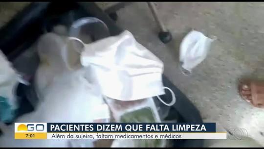 Pacientes e servidores denunciam falta de médicos e coleta de lixo no Hospital de Urgências de Trindade