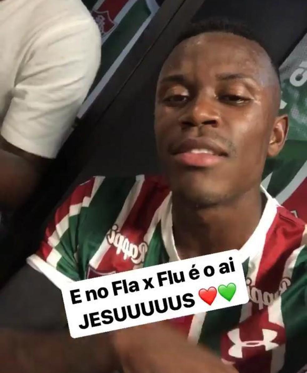 Marquinhos Calazans tira onda depois do jogo — Foto: Reprodução Instagram