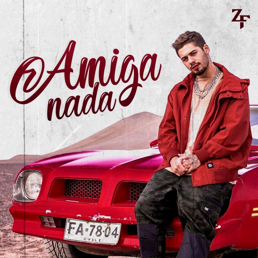 Capa do single 'Amiga nada', de Zé Felipe — Foto: Divulgação