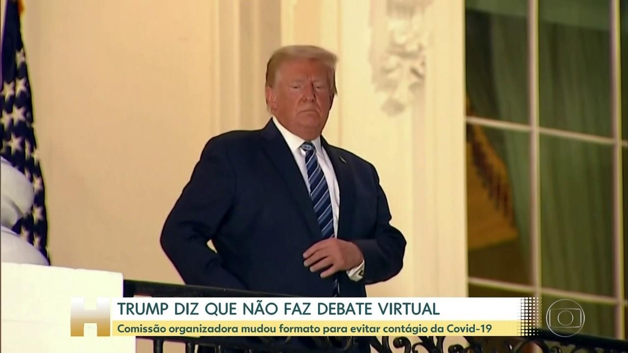 Segundo debate entre presidenciáveis nos EUA será virtual; Trump diz que não participa