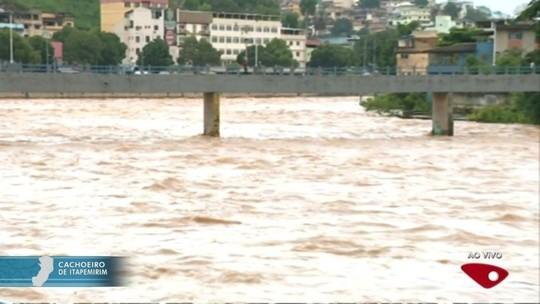 Da seca à cheia, chuva muda paisagem do Rio Itapemirim