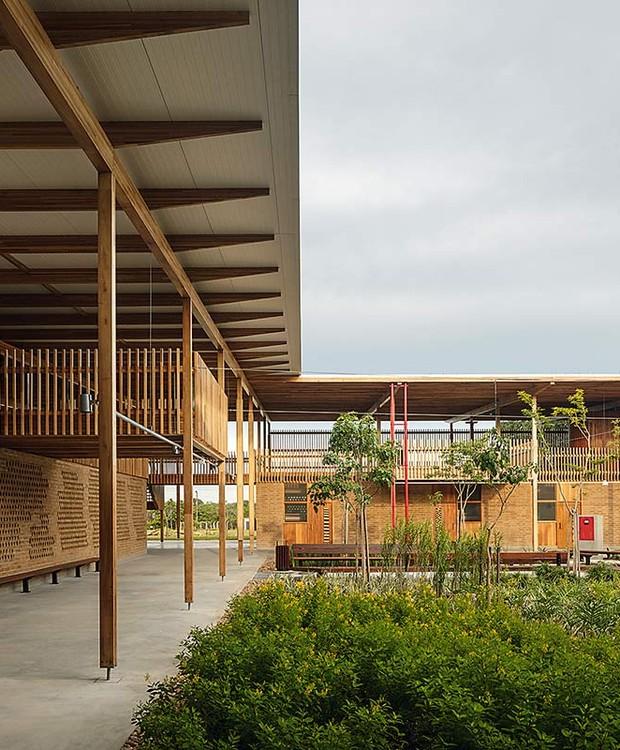 Vista do pátio interno da Aldeia das Crianças, no Tocantins  (Foto: Leonardo Finotti/ Reprodução )