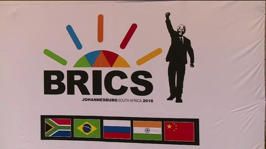 Reunião dos Brics começa nesta quarta (25) em Joanesburgo na África do Sul