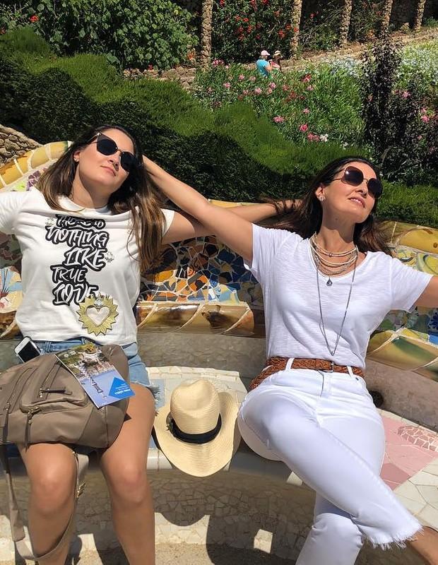 Fátima Bernardes com a filha (Foto: Reprodução)