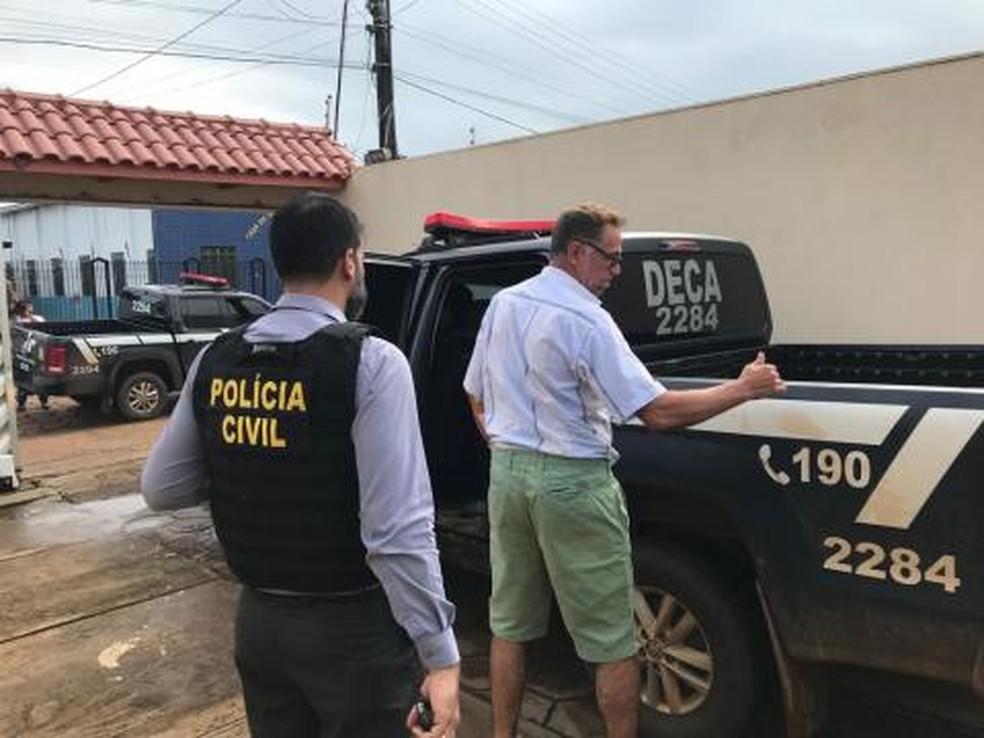 Regivaldo Galvão foi preso nesta terça-feira, 16, em Altamira — Foto: Ascom/PC