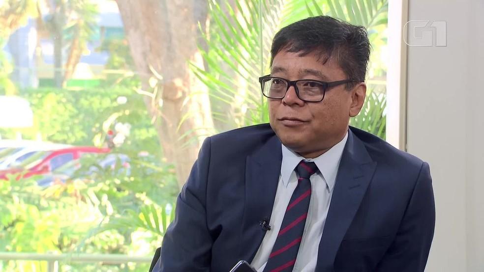 Secretário de Saúde do DF, Osnei Okumoto — Foto: TV Globo/Reprodução