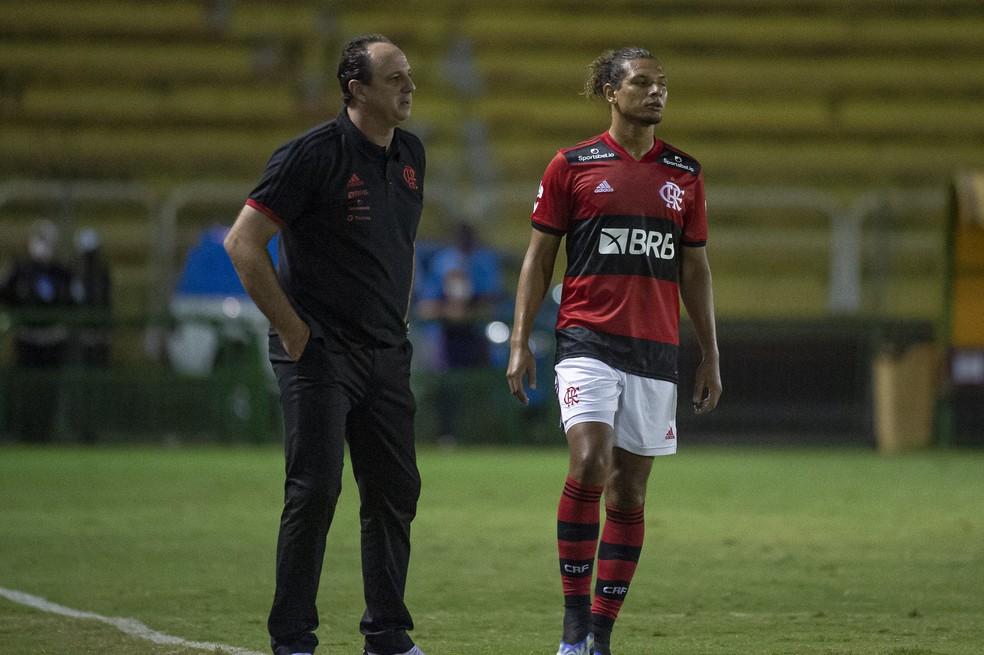 Rogério Ceni na partida do Flamengo contra o Madureira — Foto: Alexandre Vidal/Flamengo
