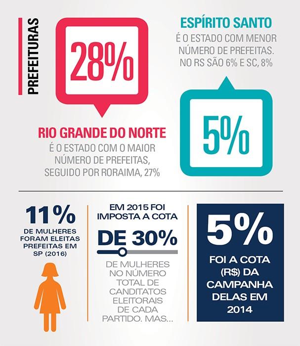 Infográfico: mulheres na política (Foto: Victoria Polak)