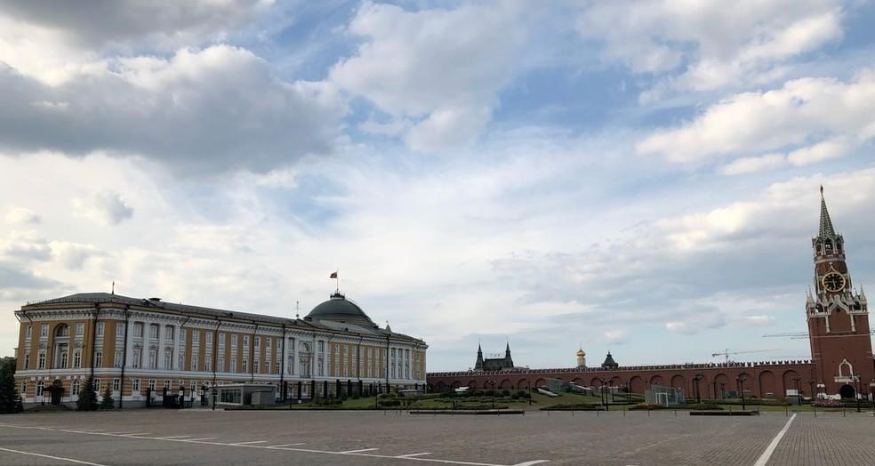-  Kremlin, sede do governo russo, em Moscou  Foto: Arquivo pessoal/Sandra Annenberg