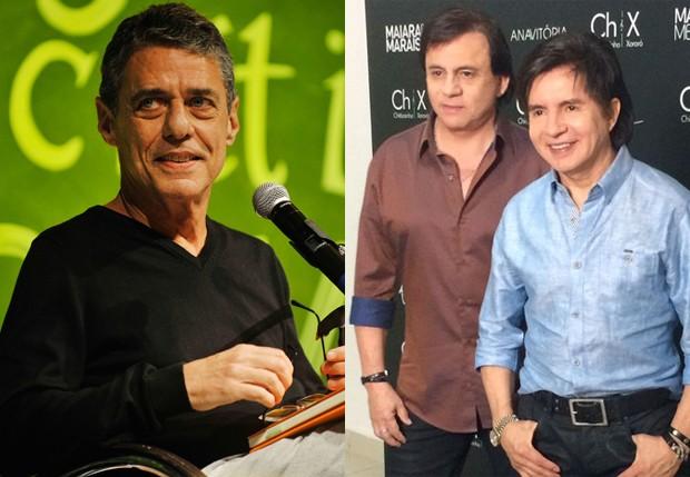 Chio Buarque, e Chitãozinho e Xororó (Foto: Getty Images e QUEM)