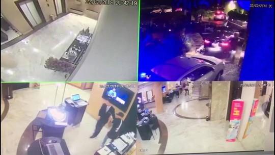 VÍDEO: Chefe de facção de SP é morto a tiros em porta de hotel