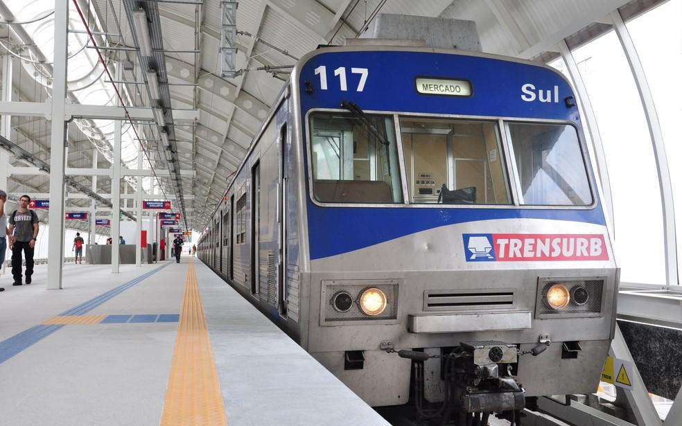 Aumento de 94% na tarifa  do trem a partir deste sábado (3) foi autorizado pelo governo federal. (Foto: Divulgação/Trensurb)