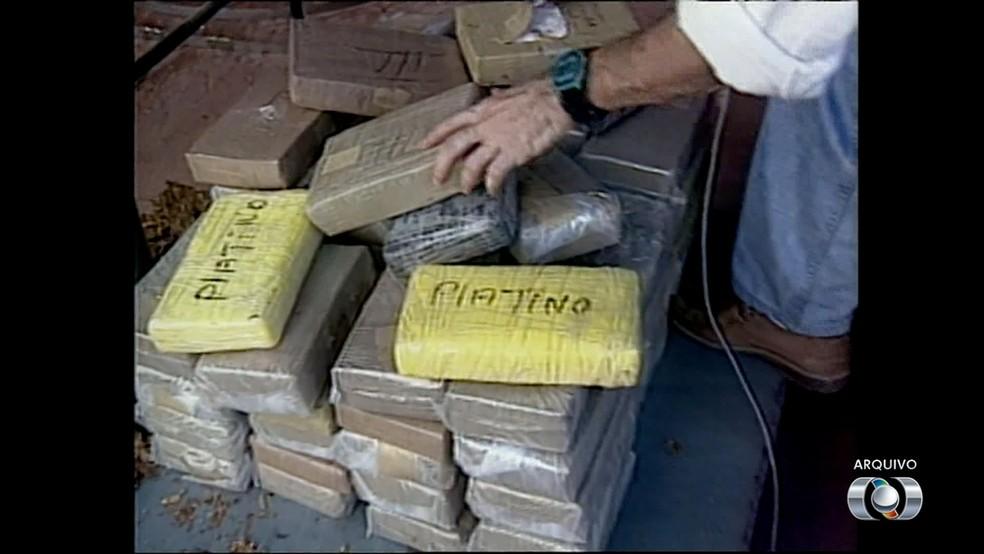 Região foi local de maior apreensão de drogas nos anos 90 (Foto: Reprodução/TV Anhanguera)