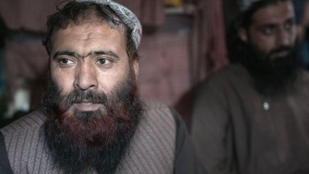 """Mullah Sultan diz que quer reinstalar a """"sharia"""" no sistema de governo do Afeganistão — Foto: BBC"""