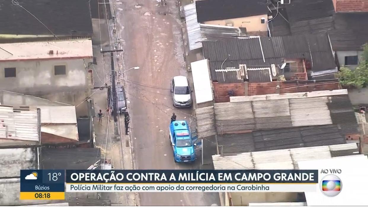 PM faz operação contra milícia em Campo Grande, na Zona Oeste