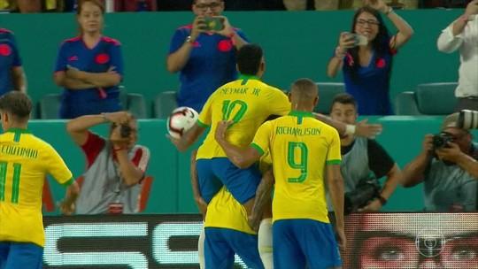 Brasil e Colômbia empatam no amistoso