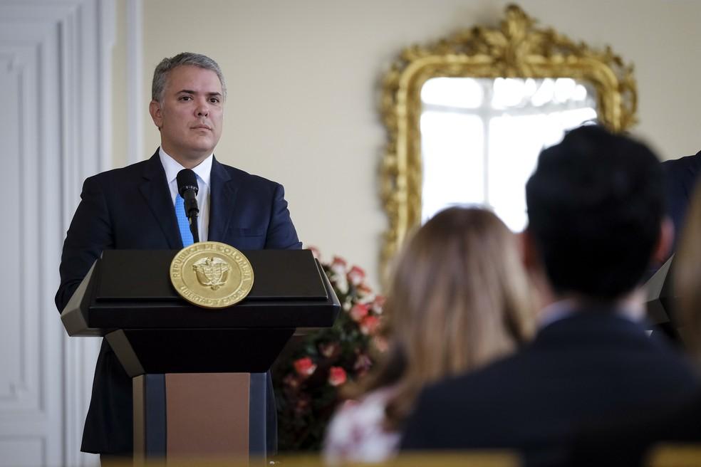Ivan Duque, presidente da Colômbia — Foto: Getty Images