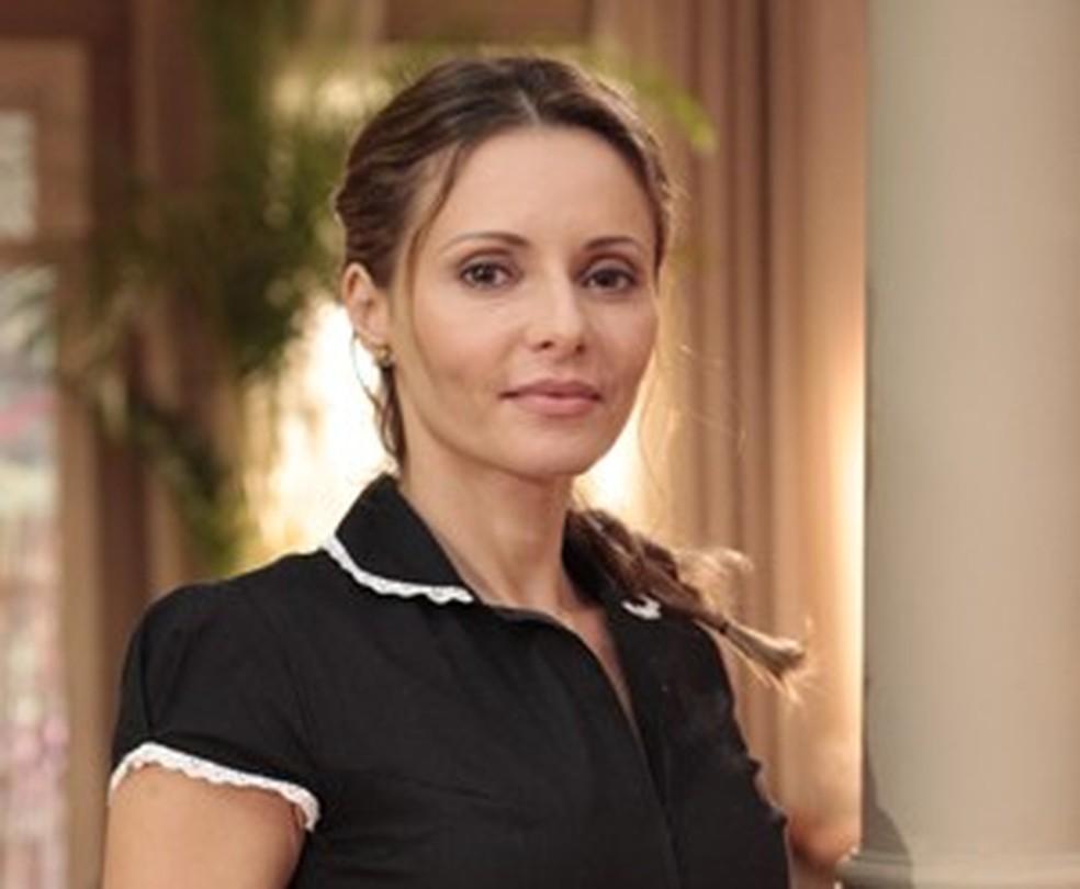 Em 'Flor do Caribe', sua última novela em 2013,  atriz era Doralice — Foto: TV Globo/Flor do Caribe