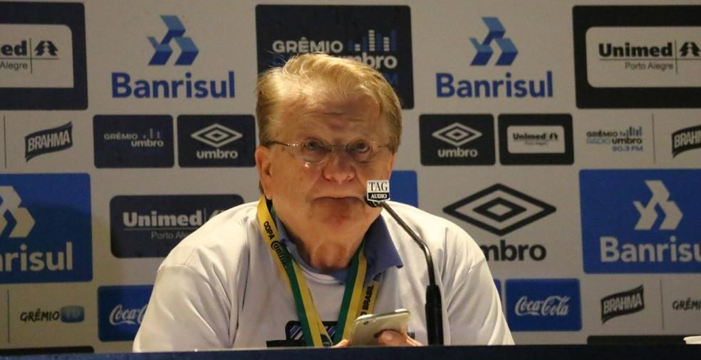 Adalberto Preis, vice-presidente do Grêmio — Foto: Eduardo Deconto / GloboEsporte.com