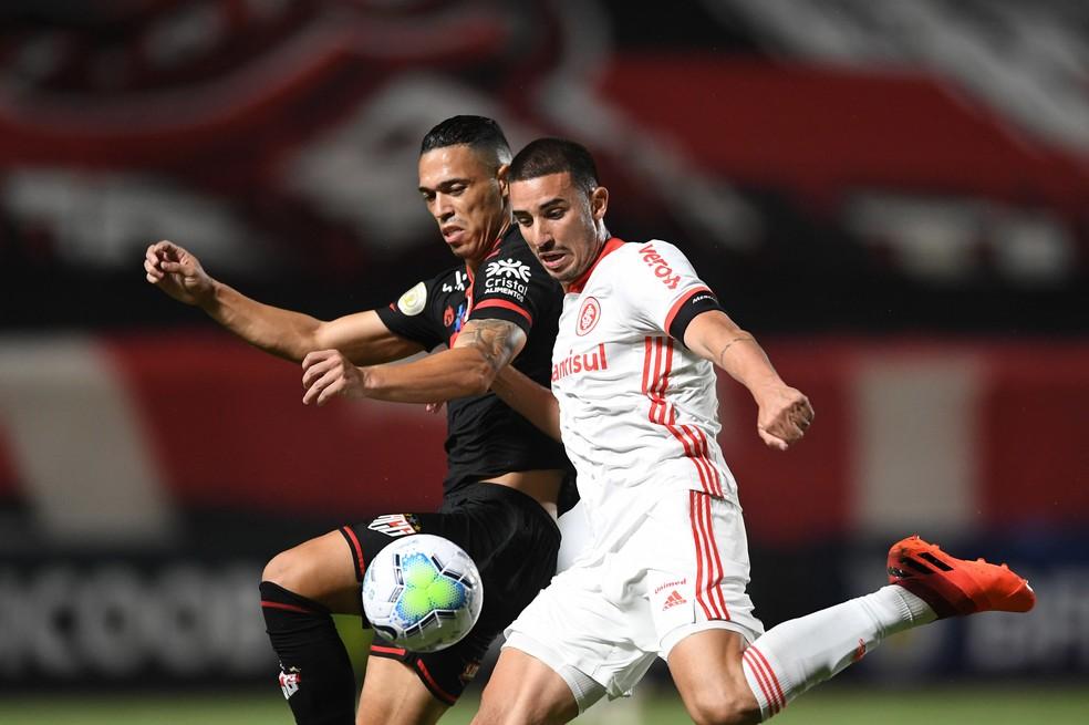Galhardo ainda não marcou com Abel — Foto: Ricardo Duarte/Divulgação Inter