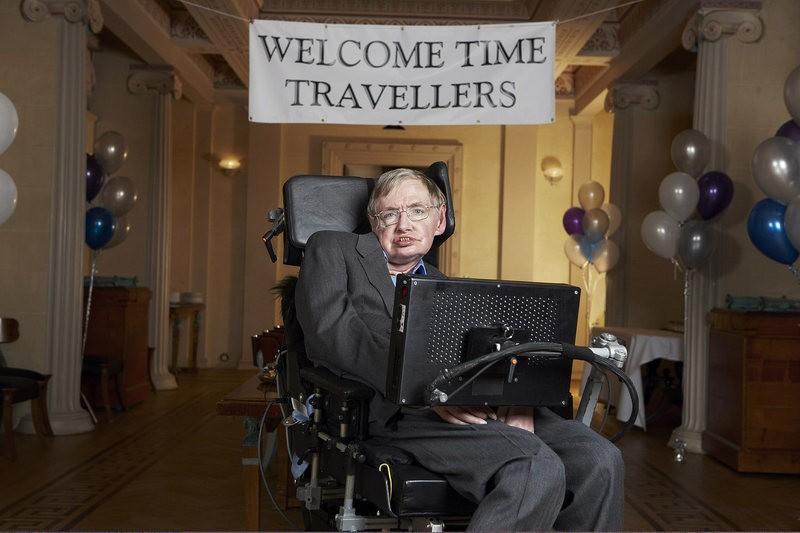 Stephen Hawking na sua festa em que ninguém apareceu (Foto: Flickr/Creative Commons/LWP KOMMUNIKÁCIÓ)