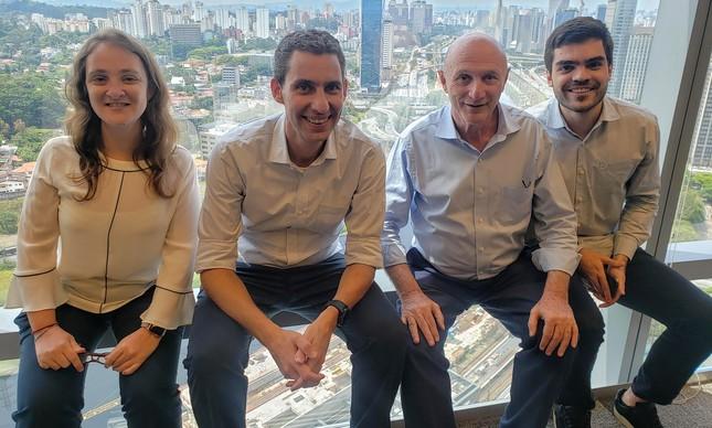 Leticia Sasson, Richard Zeiger, Moises Swirski e Bruno Avena, sócios da MSW Capital