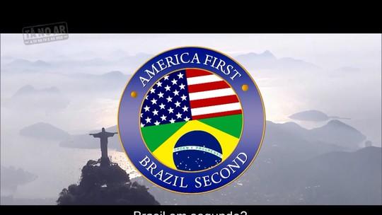 'Estados Unidos em primeiro, Brasil em segundo': reveja a cena do 'Tá no Ar' que satiriza Trump