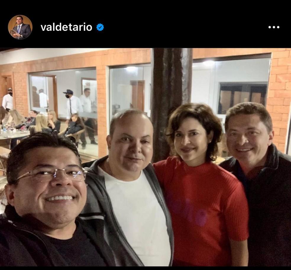 Foto de festa de aniversário de 50 anos do governador Ibaneis Rocha — Foto: Instagram/Reprodução