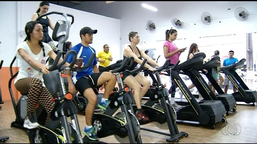 Número de academias abertas cresceu no Tocantins (Foto: TV Anhanguera/Reprodução)