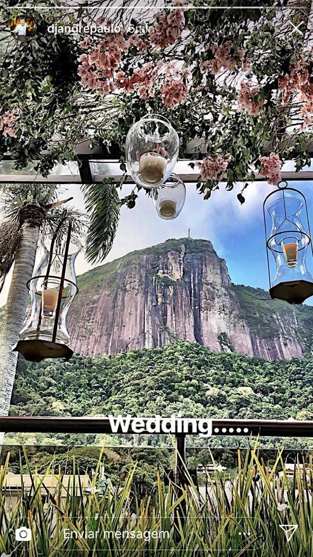 Detalhes da decoração do casamento de Natasha Dantas e William Bonner (Foto: Reprodução/Instagram)