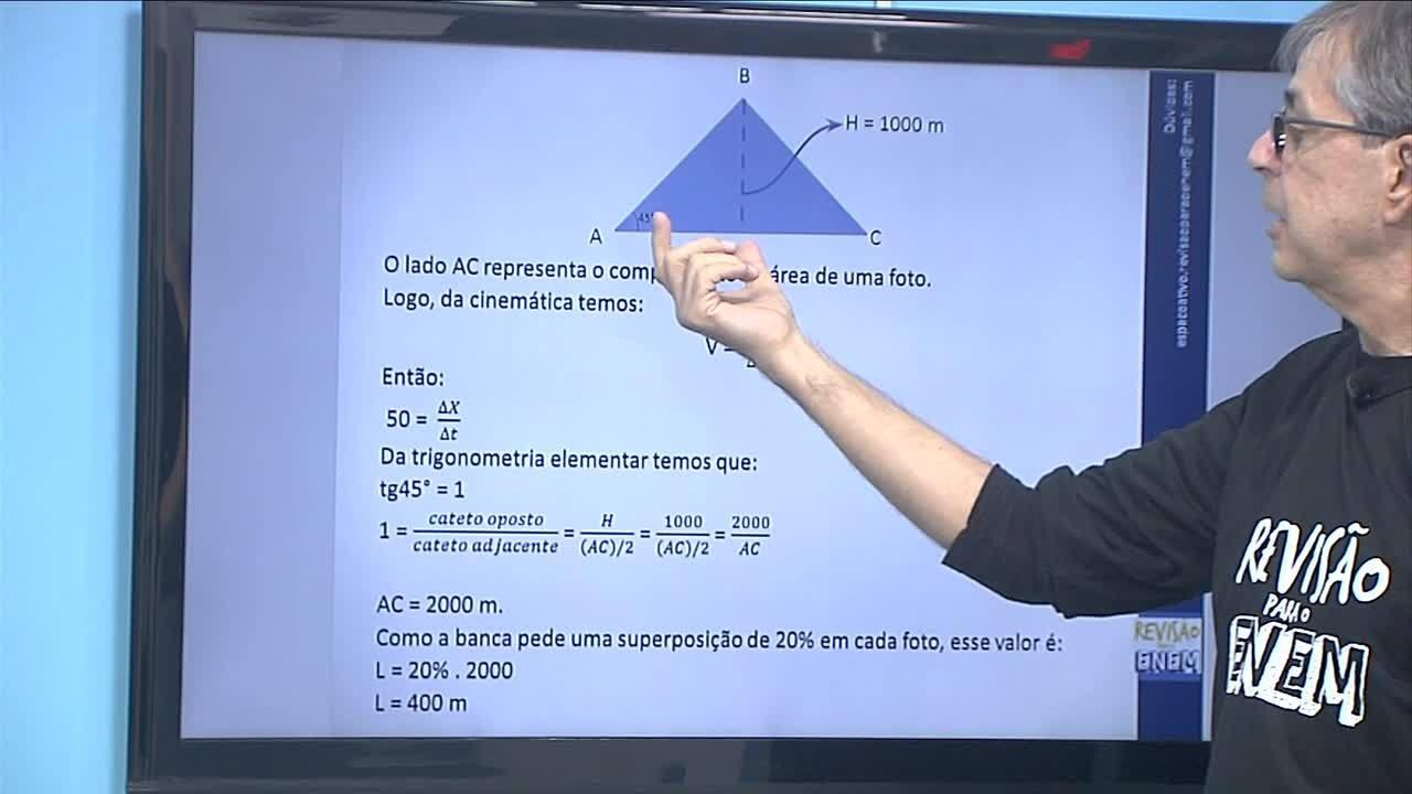 Aula de física com professor Joel da Motta