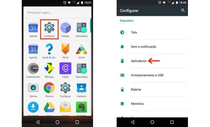 Caminho para menu de aplicativos do Android (Foto: Reprodução/Raquel Freire)