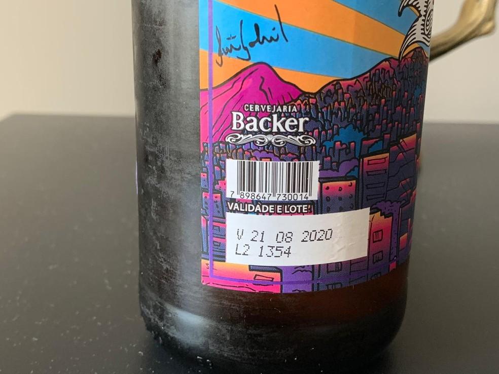 Cerveja consumida por mineiro que passou mal é de lote investigado pela polícia. — Foto: Kátia Salazar/Arquivo pessoal