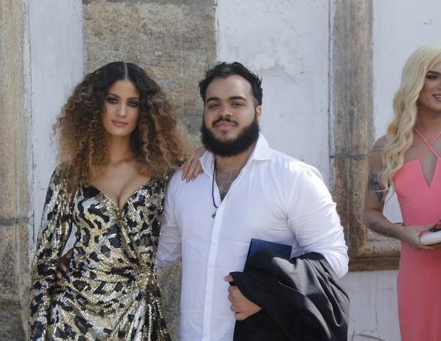 Francisco Gil e a mulher, Laura Fernandez (Foto: Wallace Barbosa/AgNews)