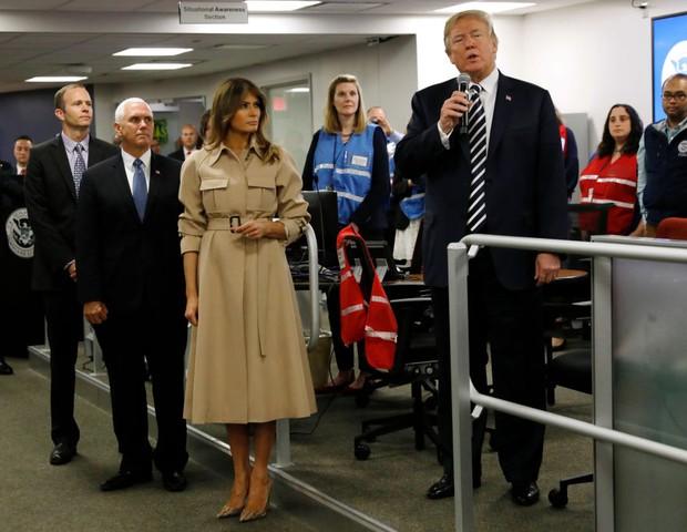 Melania e Donald Trump em evento oficial no dia 6 de junho (Foto: Getty Images)