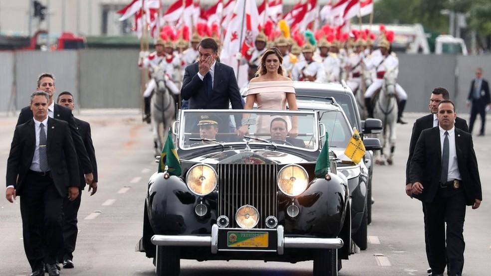 Rolls-Royce foi utilizado por Jair Bolsonaro em 1º de janeiro durante sua posse — Foto: Divulgação/Ministério da Defesa