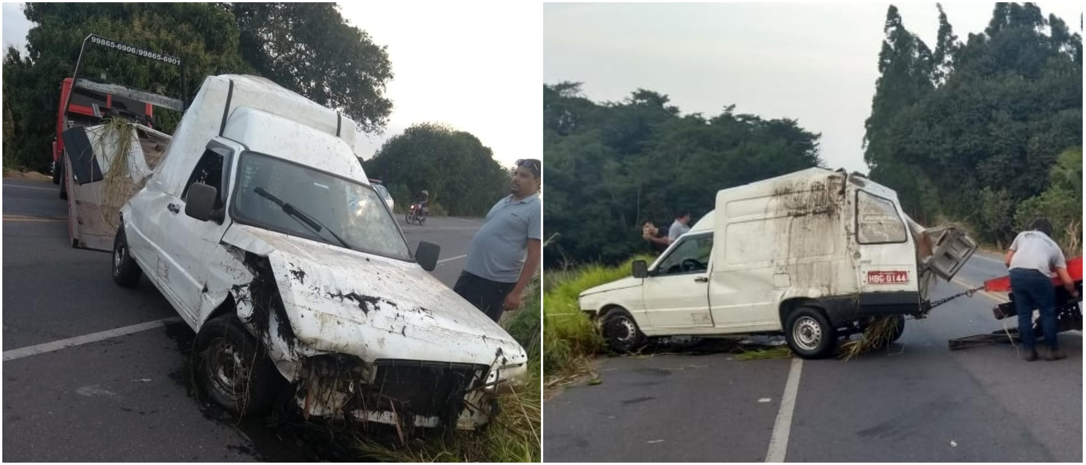Carro capota e cai em ribanceira na RJ-224, em São Francisco de Itabapoana, no RJ - Notícias - Plantão Diário