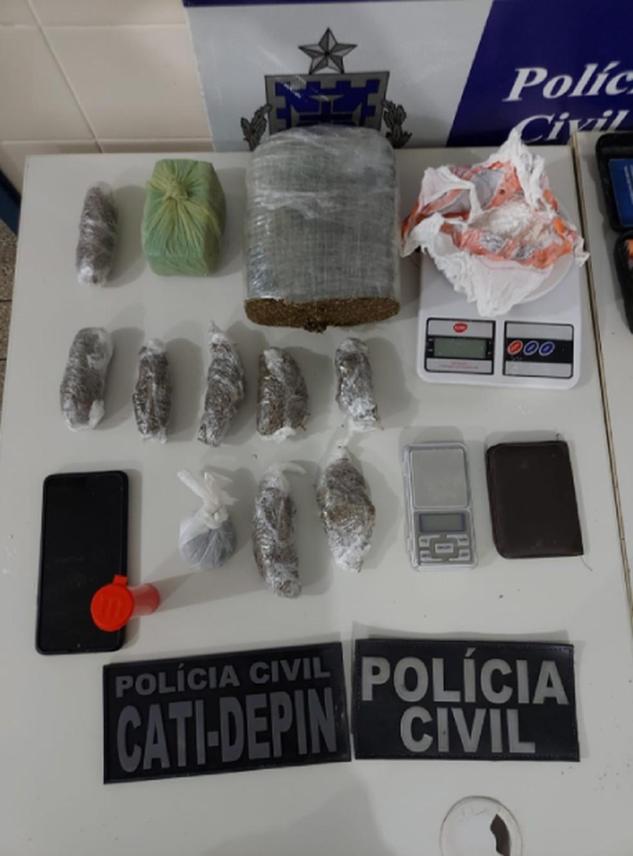 Suspeito de tráfico de drogas é preso, no norte da Bahia, quatro meses após ser liberado de presídio — Foto: Divulgação/Polícia Civil