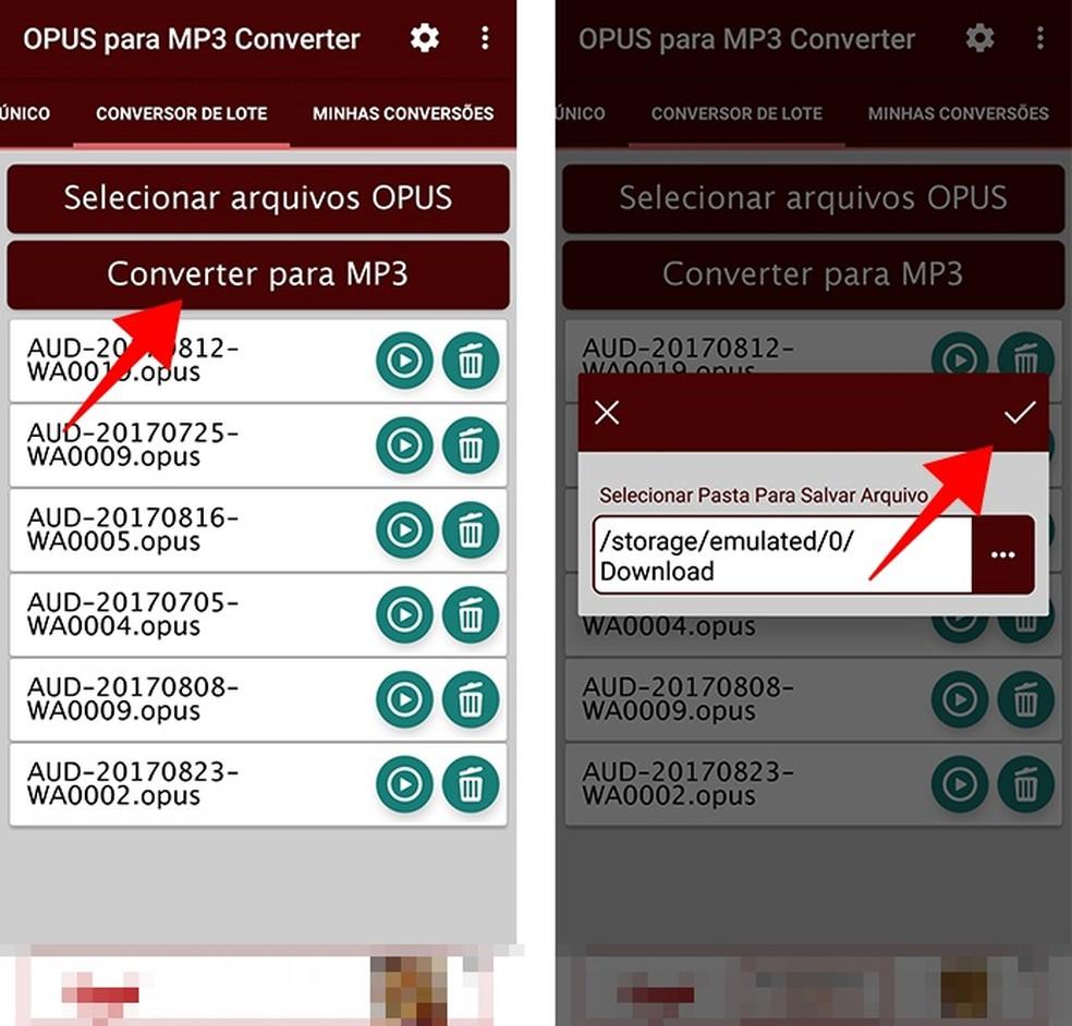 Selecione a pasta de destino para iniciar a conversão (Foto: Reprodução/Paulo Alves)
