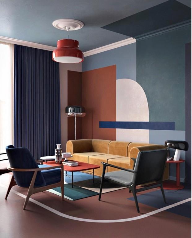 A vez da pintura paredes coloridas e criativas s o for Immagini pareti colorate soggiorno