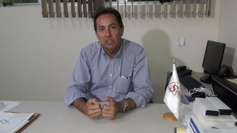 Fernando Freitas, presidente do Sindicato dos Auditores Fiscais — Foto: Heloísa Guimarães/Inter TV Cabugi