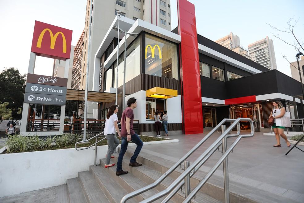 Restaurante do McDonald's na rua Henrique Schaumann, em Pinheiros, São Paulo (Foto: Fábio Tito/G1)