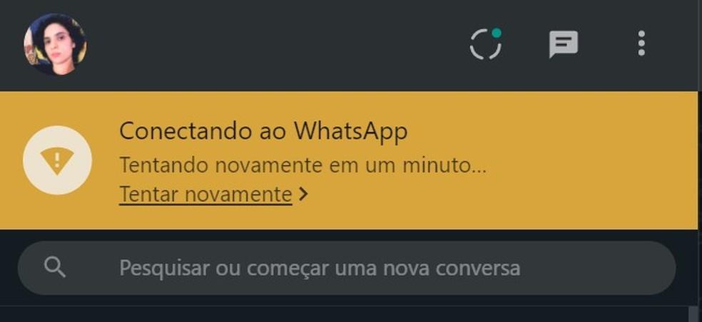 WhatsApp Web desconectou do celular durante instabilidade — Foto: Reprodução/TechTudo