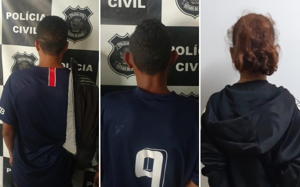 Jovem e casal de menores é suspeito de matar, atear fogo em idosa e arrancar coração da vítima â?? Foto: Polícia Civil/Divulgação