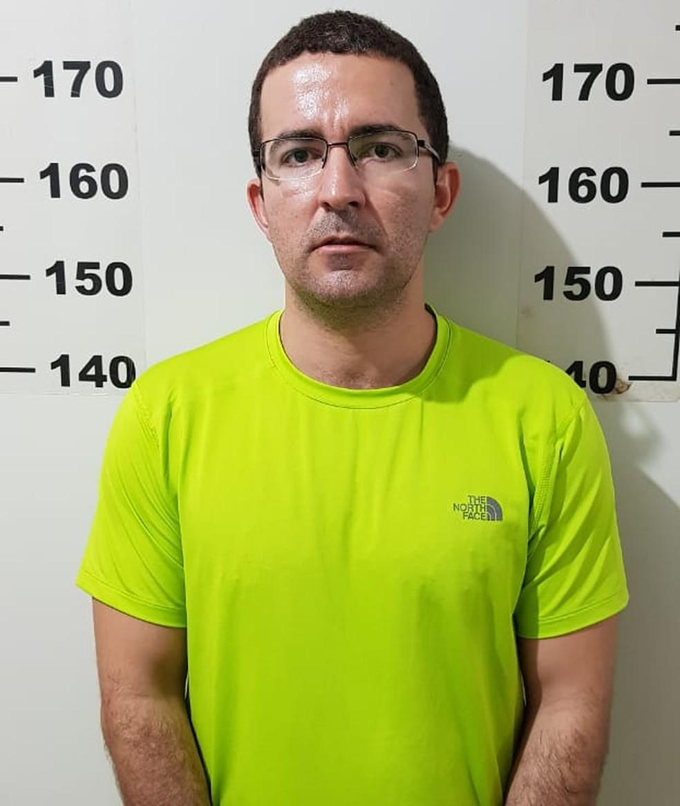 Marcelo Cunha Leite foi preso em flagrante (Foto: Polícia Civil de MT/Assessoria)
